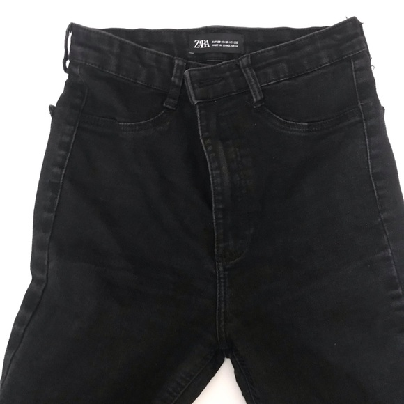 ZARA Women's High waisted black skinny Jeans